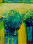 Le jardin d'Iseult  65 cm x 54 cm 2012