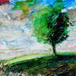 Attends moi sous le grand arbre, je ne tarderai pas 50 cm x 50 cm 2012