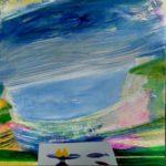 Les souvenirs délicats avec mon père 60 cm x 60 cm 2012