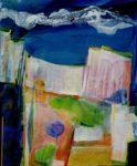 Rejoins moi cette nuit nous irons voir les blessures des falaises  61 cm x 50 cm 2012