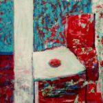 Si tu rentres tard, je t'ai préparé un peu de clafoutis sur la table basse 80 cm x 80 cm 2012