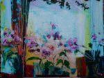 Le coup de vent devant la fenêtre de Mme Morisot 100 cm x 81 cm 2012