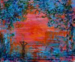 Claudio profitant des derniers rayons du soleil vers 21h10 46 cm x 38 cm 2013