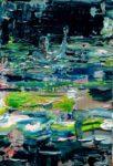Alban nageant dans son étang un soir 41 cm x 33 cm 2014