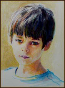 Octave Aquarelle pastel  crayons  couleurs  papier 17cm  x 26cm