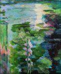 La nature ne fait rien d'inutile, alors ces reflets à quoi bon ?Mais c'est pour dialoguer avec les poètes me répondit la fleur et puis Dieu a le droit de peindre aussi, c'est si bon !  61cm x 50cm 2018