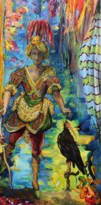 Les rêves d'un Malouin : A Saint Malo en 1620, Yvan rêvait d'orient. 100cm x 50cm 2018