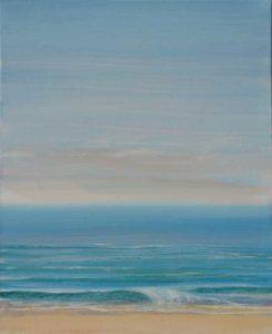 Une petite vague qui vient finir sa vie sur un sable fragile, aussi doux que les battements de tes cils sur ma joue, tout avait l'air si tranquille.-27 cm x 22 cm-2018