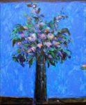 Ton bouquet aussi à Palerme la nuit se souvenait des couleurs de la mer - 55cm x 46cm - 2020