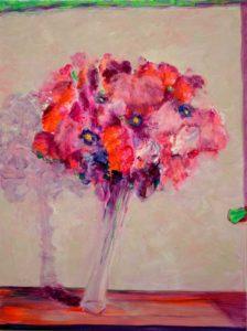 Ton bouquet te ressemblait quand tu dansais heureuse sur la valse légère d'Emil K. - 61cm x 46cm - 2020