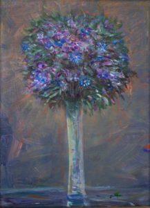 Mon bouquet, au crépuscule, aimait une femme en secret. - 33cm x 24cm - 2020