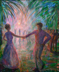 We danced day and night and even at night the sun burned us. - 73cm x 60cm - 2021