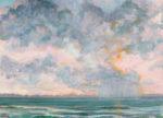 Le ciel tricotait ses nuages avec les gris de la Pompadour - 46cm x 33cm - 2021