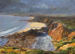 L'océan déshabillait la falaise laissant apparaître toutes les nuances de la palette d'un peintre. - 46cm x 36cm - 2021
