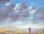 L'instant où Octave me dit : j'ai l'impression que l'océan à disparu et de marcher dans le ciel. - 50cm x 40cm - 2021